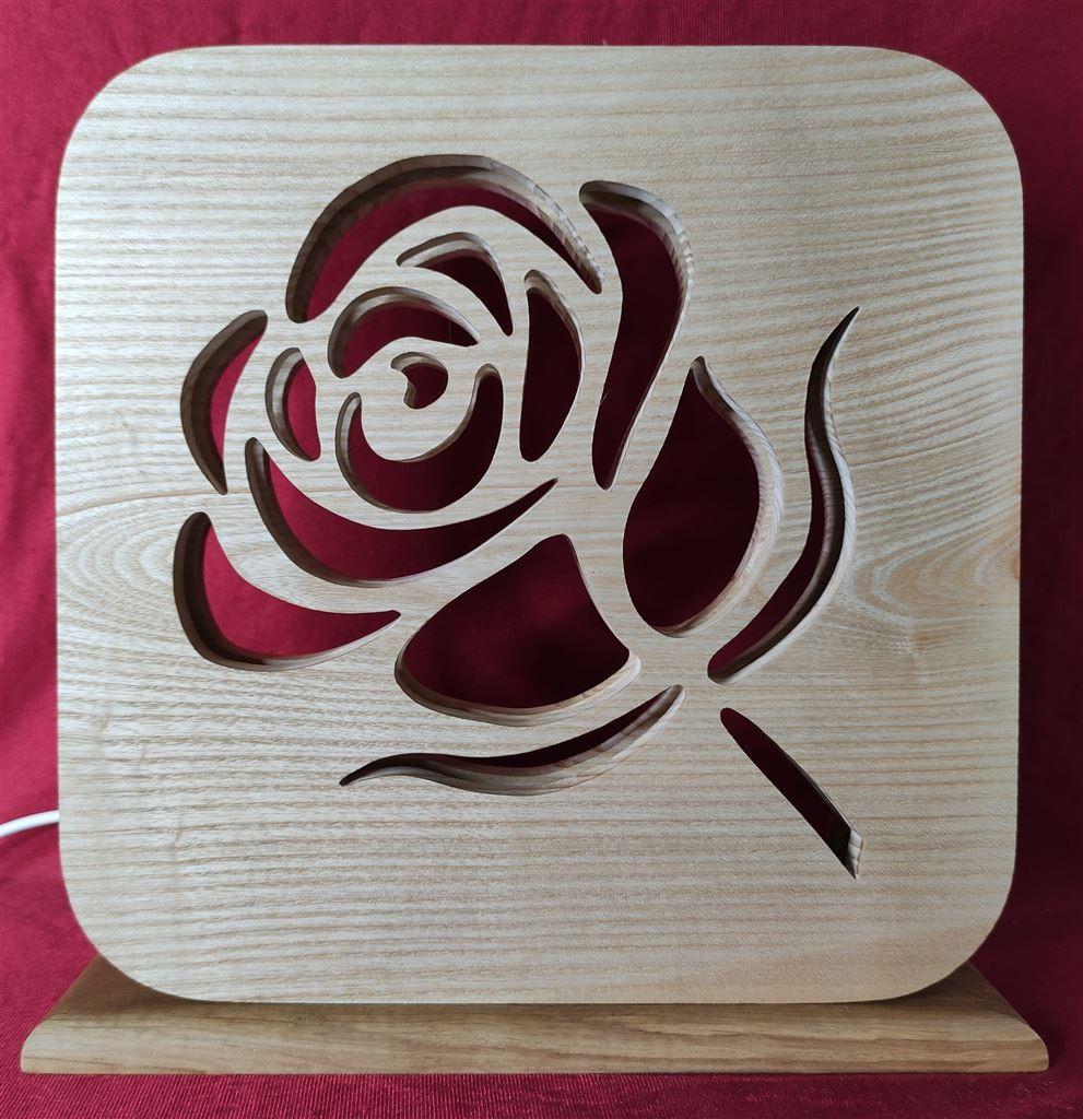 Lampe De Chevet Ou D'ambiance avec une rose À LED